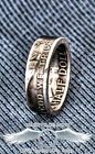 1948-1963 90% Silver Franklin Half Dollar Double Side Coin Ring Wedding Band