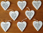 NEW EAST OF INDIA PORCELAIN HANGING HEARTS GIFT FOR FRIENDS - 4 CHOICES