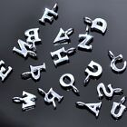 Tiny Sterling Silver Small Alphabet Letter Genuine Solid 925 Initials Charms