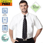 Mens White Oxford Shirts Casual Office School Cotton Polyester Work Shirt