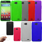For LG Optimus L90 D405 D415 Color TPU SILICONE Rubber Flexi Back Case Cover