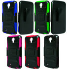 For Samsung Galaxy Mega 6.3 I527 I9200 Rugged Hybrid Stand Holster Case Cover