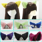 Lolita Fashion Style Women Girl Lovely Party Clip In Cosplay Hair Clip Cat Ears