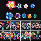 10~50pcs 10~30mm Colorful Clay Polymer Fimo Flower Findings Loose Spacer Beads