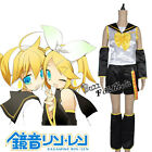 Vocaloid Rin Black White Yellow Mixed Fancy Women Lady Cosplay Costume Clothing