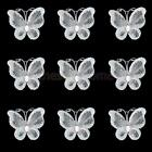 50± Wired Mesh Stocking Glitter Butterfly Wedding Card Craft Decoration 3cmx2cm