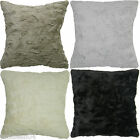 "2 X SUPERB FAUX FUR EXTRA SUPERSOFT FLUFFY 22"" CUSHION COVERS 4 COLOURS #NIHC"