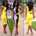 New Celeb Womens Bodycon Pencil Cocktail Bandage Evening Party Dress Size 6-18