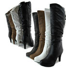 Women Over The Knee Thigh High Platform High Heel Sexy Lace Up Round Toe Boots