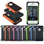 Dual Layer Rugged Rubber Combo Matte Hybrid Hard Case Cover for iPhone 4S 4