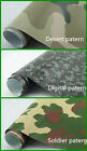 CAMOUFLAGE CAMO VINYL CAR WRAP DIFFERENT SAMPLES SIZES - AIR BUBBLE FREE