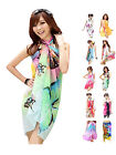 Women Lady Sexy Chiffon Pareo Dress Sarong Wrap Beach Swimwear Bikini Cover Up