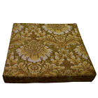 we58t Gold Tan Damask Flower Chenille 3D Box Shape Sofa Seat Cushion Cover*Size