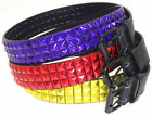 LADIES DESIGNER STYLE PYRAMID STYLE STUDDED QUALITY FAUX LEATHER BELT