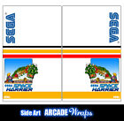 Space Harrier Arcade Side Art Panel Stickers Graphics / Laminated All Sizes