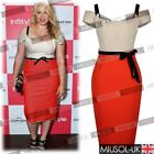 Ladies Office Business Wedding Party Casual Bodycon Knee Tea Dresses Size 810246