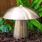 2ft Abbey Falls Stainless Steel Mushroom Water Feature Fountain Garden w Lights