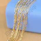 5PC 2.5MM Figaro Necklaces Chains 18K Yellow Gold Filled Men's Jewelry GF 18-26""