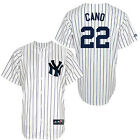 NWT Majestic New York Yankees Robinson Cano #22 Youth N.Y. Jersey Stitched 4-16