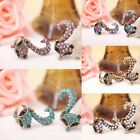 1pc New hot Zinc Alloy With Crystal Rhinestone Charm Fox Individuality Ring 17mm