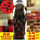 Clip in Hair Extensions Half Head One Piece Curly Straight Real Synthetic UK