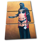 Burka Sexy Apron Banksy Painting TREBLE CANVAS WALL ART Picture Print VA