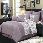 Bliss Purple and White Luxury 12-Piece Comforter Set
