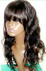 Fashion Body Wave 100% Indian Remy Human Hair Lace Front Wig with bang /fringe