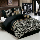 Chandler Black and White 11-Piece Luxury Bed in a Bag w/ optional curtains