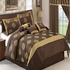 Judy Copper and Chocolate Brown 11-Piece Luxury Bed in a Bag w/ optional curtain
