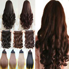 Markdown Sales Clip In Hair Extensions One Piece Black Brown Synthetic For Human
