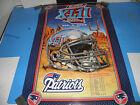 NFL NEW ENGLAND PATRIOTS SUPER BOWL XLII - 18-0 UNDEFEATED POSTER 24X36