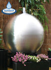 Stainless Steel Sphere Water Feature LED Lights Fountain Cascade Garden Outdoor