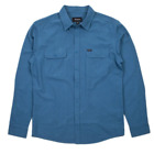 Brixton Mfg Co. Men's Donez Long Sleeve Button Up Shirt Steel Blue Street/Skate