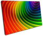Rainbow Design Abstract SINGLE CANVAS WALL ART Picture Print VA