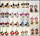 Mickey Mouse or Minnie Mouse Dangling Surgical Steel Hook Earrings- Choose Style