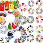 120pcs New Nail Art Rhinestones Glitters Acrylic Tips Decoration Manicure Wheel