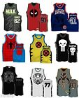 Authentic Marvel Comic Or Star Wars Adult Embroidered Basketball Jersey Shirt $29.99 USD on eBay