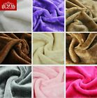"""1/2 meter/yard Thick Winter 6mm Fake Furs Fabric Solid Color DIY 59"""" #25"""