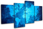 Funky World Atlas Maps Flags MULTI CANVAS WALL ART Picture Print VA