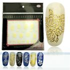 Hot 3D Butterfly Nail Stickers Manicure Decals Hot Stamping French Nail Art DIY