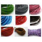 Wholesale 3 M Real Leather Necklace Charms Rope String Cord 2.0 mm 17 Color NEW