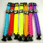 PARACORD BRACELET W/ WORKING COMPASS/ BRIGHT COLORS/ SURVIVAL KIT NECESSITY!