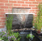 Arc Stainless Steel Water Fall Blade Cascade Feature Fountain Garden Pond Curved
