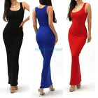 Women Cocktail Slimming One-Piece Tank Top Fit soft Party Long Maxi Dress N801