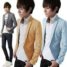 Mens Korea Stunning Slim fit Jacket Blazer Outerwear one Button Coat Suits Tops