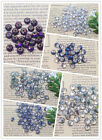 Wholesale 50pcs 6mm Colorful Crystal Gemstone Rondelle Spacer Glass Loose Bead
