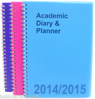 A5 2014 - 2015 Academic Diary & Planner Mid Year Student Diary Week To View New