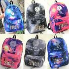 Unisex KPOP EXO Galaxy Pattern Canvas Shoulder Bag Backpack School Bag Rucksack