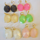 CLIP ON Bubble Rhinestone Dangle Non-Pierced Earrings 1 Pair You Choose Color